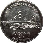 Token - Mackinaw City, Michigan (Mackinac Bridge) – reverse