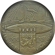 Medal - 25th anniversary of the Dutch submarine service – obverse