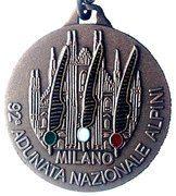 Medal - 92° Adunata Nazionale Alpini – obverse