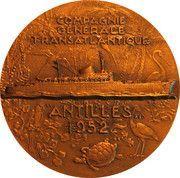 """Medal - Compagnie Générale Transatlantique - Paquebot """"Antilles"""" – obverse"""