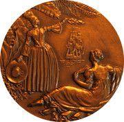 """Medal - Compagnie Générale Transatlantique - Paquebot """"Antilles"""" – reverse"""
