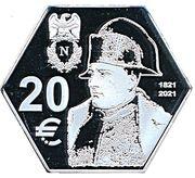 20 Euro (200th Anniversary of the death of Napoleon) – reverse