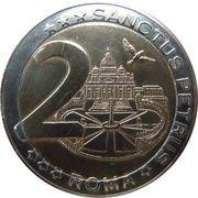 2 (Vatican City Euro Fantasy Token; Sanctus Petrus Roma) – reverse