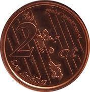 2 Cent (Martinique Euro Fantasy Token) – reverse