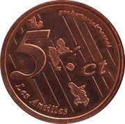 5 Cent (Martinique Euro Fantasy Token) – reverse