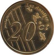 20 Cent (Martinique Euro Fantasy Token) – reverse