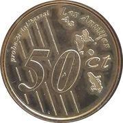 50 Cent (Martinique Euro Fantasy Token) – reverse