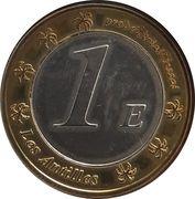 1 Euro (Martinique Euro Fantasy Token) – reverse