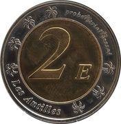 2 Euro (Martinique Euro Fantasy Token) – reverse