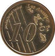 10 Cent (Martinique Euro Fantasy Token) – reverse