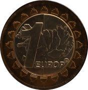 1 Europ (Iceland Euro Fantasy Token) – reverse