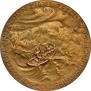 Medal - 125th anniversary of the royal South Holland life saving at sea company – reverse