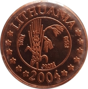2 Cent (Lithuania Euro Fantasy Token) – obverse