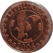 5 Cent (Lithuania Euro Fantasy Token) – obverse
