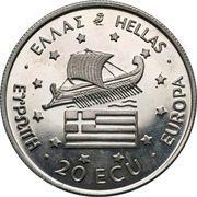 20 ECU (Alexander the Great) – obverse