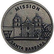Token - Mission Santa Barbara – obverse
