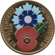 Monnaie de Paris - Great War (We will remember them; colored) – obverse