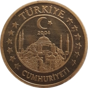 50 Cent (Turkey Euro Fantasy Token) – obverse