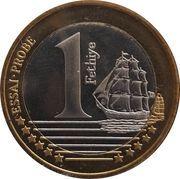 1 Euro (Turkey Euro Fantasy Token) – reverse