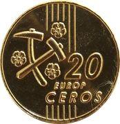 20 Europ Ceros (Slovakia Euro Fantasy Token) – reverse