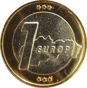 1 Europ (Slovakia Euro Fantasy Token) – reverse