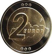 2 Europ (Slovakia Euro Fantasy Token) – reverse