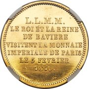 2 Francs - Napoleon I (Trial Strike; Visit to the Mint) – reverse