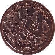 1 Cent (Netherlands Indies Euro Fantasy Token) – reverse