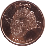2 Cent (Netherlands Indies Euro Fantasy Token) – obverse