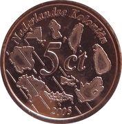 5 Cent (Netherlands Indies Euro Fantasy Token) – reverse