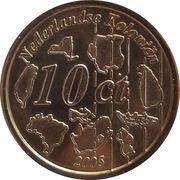 10 Cent (Netherlands Indies Euro Fantasy Token) – reverse