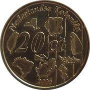 20 Cent (Netherlands Indies Euro Fantasy Token) – reverse
