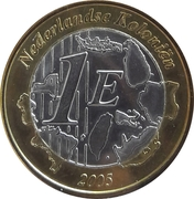 1 Euro (Netherlands Indies Euro Fantasy Token) – reverse