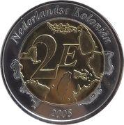 2 Euro (Netherlands Indies Euro Fantasy Token) – reverse