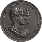 Medal - Frederik VI (Coronation of Royal Couple) – obverse