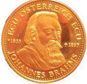 ECU - Servus Europa (Johannes Brahms) – obverse