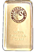 1 Gram (Perth Mint Gold Bar) – obverse