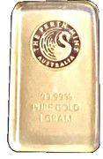 1 Gram (Perth Mint Gold Bar) – obverse