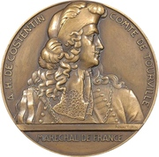 Medal - 300th anniversary of the count of Tourville – obverse