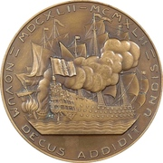 Medal - 300th anniversary of the count of Tourville – reverse
