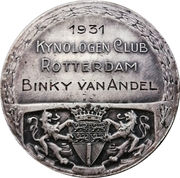 Medal - Kynologen Club Rotterdam – reverse