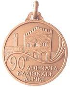 Medal - 90° Adunata Nazionale Alpini – reverse