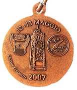 Medal - 80° Adunata Nazionale Alpini – reverse