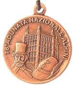 Medal - 78° Adunata Nazionale Alpini – obverse