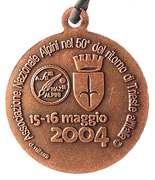Medal - 77° Adunata Nazionale Alpini – reverse