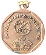 Medal - 74° Adunata Nazionale Alpini – reverse