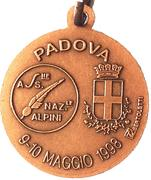 Medal - 71° Adunata Nazionale Alpini – reverse
