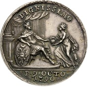 Medal - Coronation of Leopold II as Holy Roman Emperor – reverse