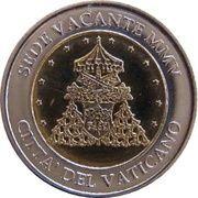 """2 E (Vatican City Euro Fantasy Token; """"Sede Vacante"""") – obverse"""
