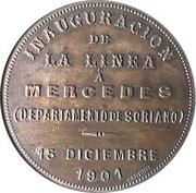 Medal - Inauguration of the Line to Mercedes – reverse